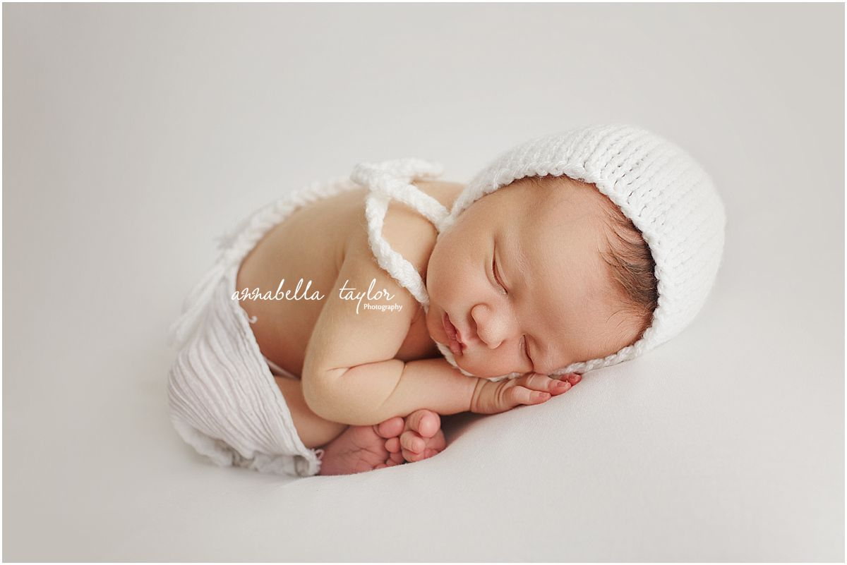 New baby posing weybridge photographer epsom studio