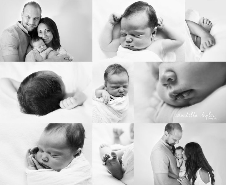 newborn pictures London newborn photographer neutral images black and white details