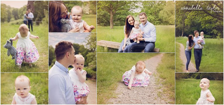 Family session baby pictures epsom based photographer 1 year old with family annabella taylor photography